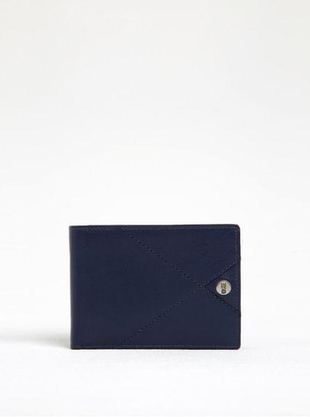 Dice tmavě modrá kožená peněženka s prošívanými detaily Harper Range