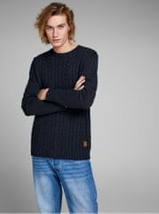 Jack&Jones tmavě modrý svetr s příměsí vlnyJohonson