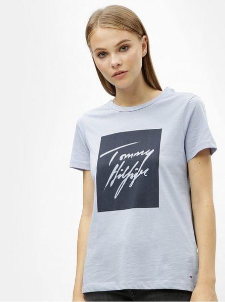 Tommy Hilfiger světle modré dámské tričko s potiskem Effy XL