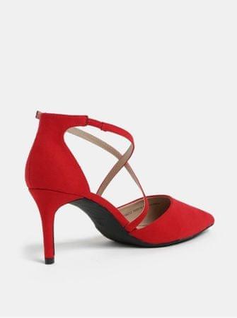 62db02db239 Dorothy Perkins červené sandálky v semišové úpravě na jehlovém ...