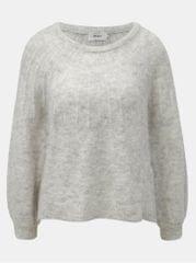 ONLY světle šedý žíhaný svetr s příměsí vlny Hanna