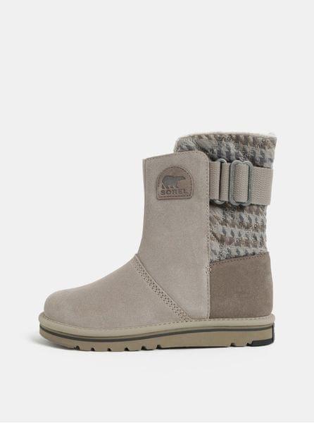 Sorel šedé dámské semišové zimní boty Newbie 42