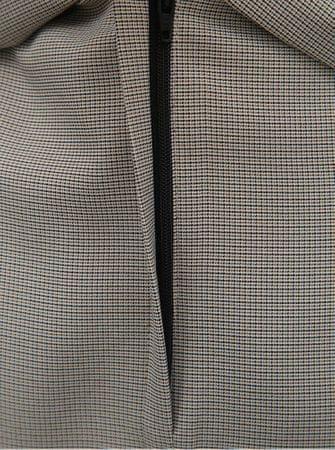 17f5998fbbfb Dorothy Perkins šedá kostkovaná pouzdrová sukně s páskem L