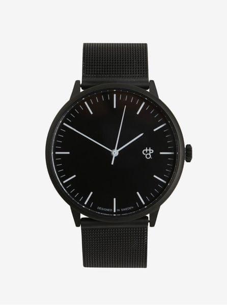 CHPO hodinky s černým nerezovým páskem Nando Noir