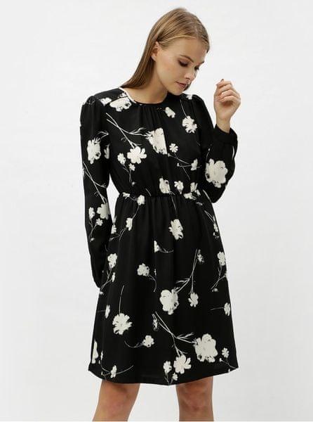 Vero Moda černé květované šaty s dlouhým rukávem Zitta XL 98232ba721