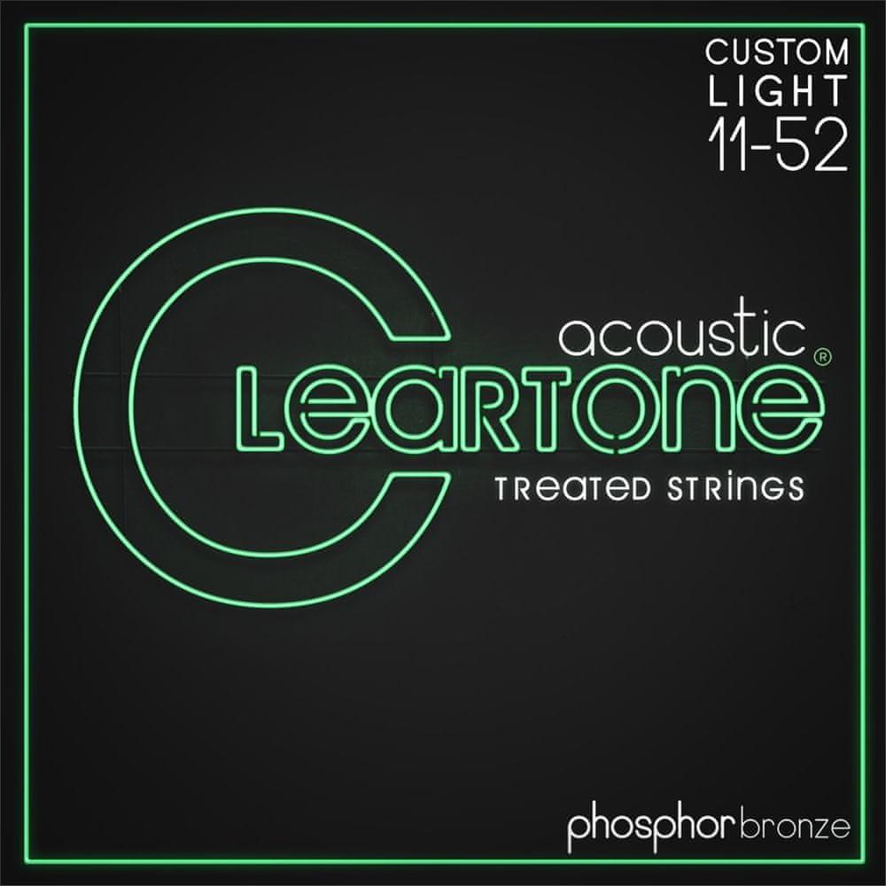 Cleartone Phosphor Bronze 11-52 Custom Light 2-Pack Kovové struny pro akustickou kytaru