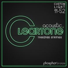 Cleartone Phosphor Bronze 11-52 Custom Light Kovové struny pro akustickou kytaru