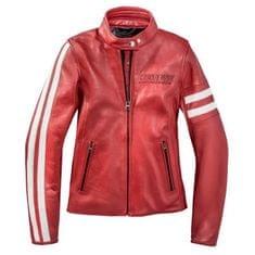 Dainese dámská kožená moto bunda FRECCIA72 LADY (Settantadue) červená/bílá, kůž