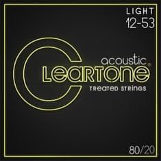 Cleartone 80/20 Bronze 12-53 Light Kovové struny pro akustickou kytaru