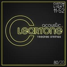 Cleartone 80/20 Bronze 11-52 Custom Light Kovové struny pro akustickou kytaru