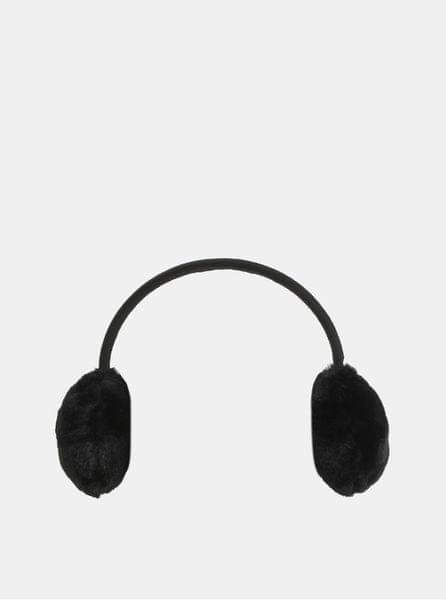 Pieces černé klapky na uši Kasandra ONE SIZE