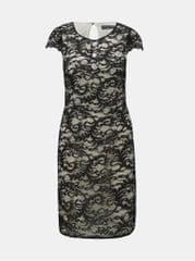 ad06d4e81ae Dorothy Perkins bílo-černé krajkové šaty s ozdobnými knoflíky