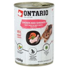 Ontario mokra karma dla kociąt Kitten Chicken,Shrimp,Rice and Salmon Oil - 6 x 400g