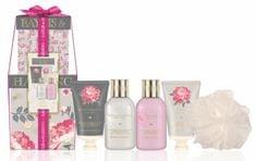 Baylis & Harding Ajándékcsomag a mosószivacsmal Rózsaszín magnólia és körte virágok