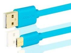 365cf3754 AXAGON BUMM-AM05QL, HQ Kabel MicroUSB <-> USB A, datový a