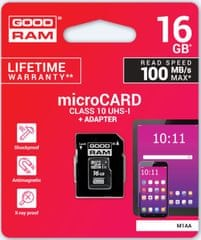 GoodRam memorijska kartica microSD 16GB + SD adapter (500304)