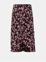 Vero Moda vínová květovaná sukně Billia