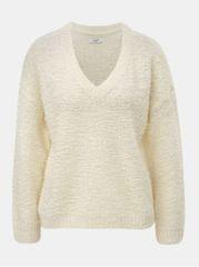 720331e0538 Jacqueline de Yong krémový svetr s véčkovým výstřihem Knit