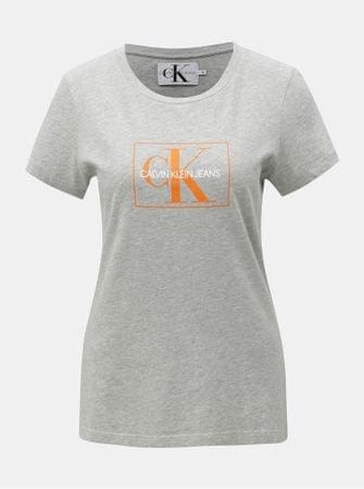 5e763d9f0a3f Značka  Calvin Klein Jeans Náš kód  100003110445. šedé dámské žíhané tričko  s potiskem XL
