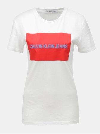 Calvin Klein Jeans bílé dámské tričko s potiskem M  32e6511eb8
