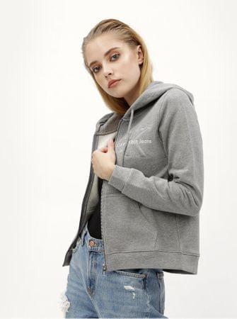 Značka  Calvin Klein Jeans Náš kód  100003464340. šedá dámská mikina na zip  XL f8a31e21f9f