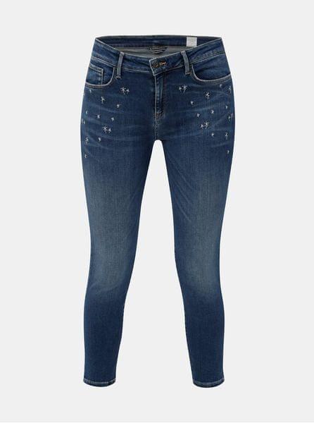 Tommy Hilfiger modré dámské jegging fit džíny s výšivkou XL