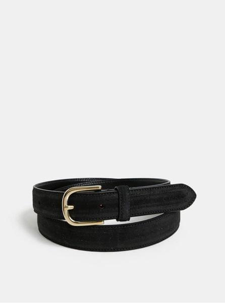 Gant černý dámský kožený pásek 85
