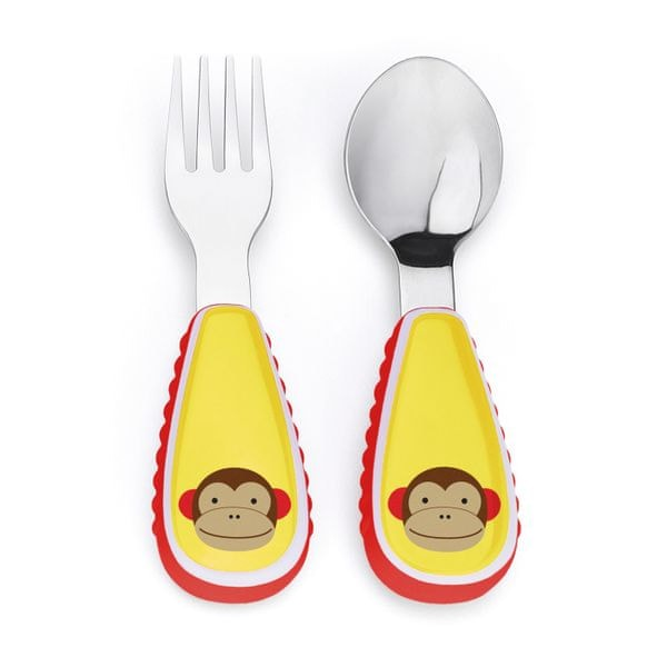 Skip hop Zoo lžička a vidlička Opička