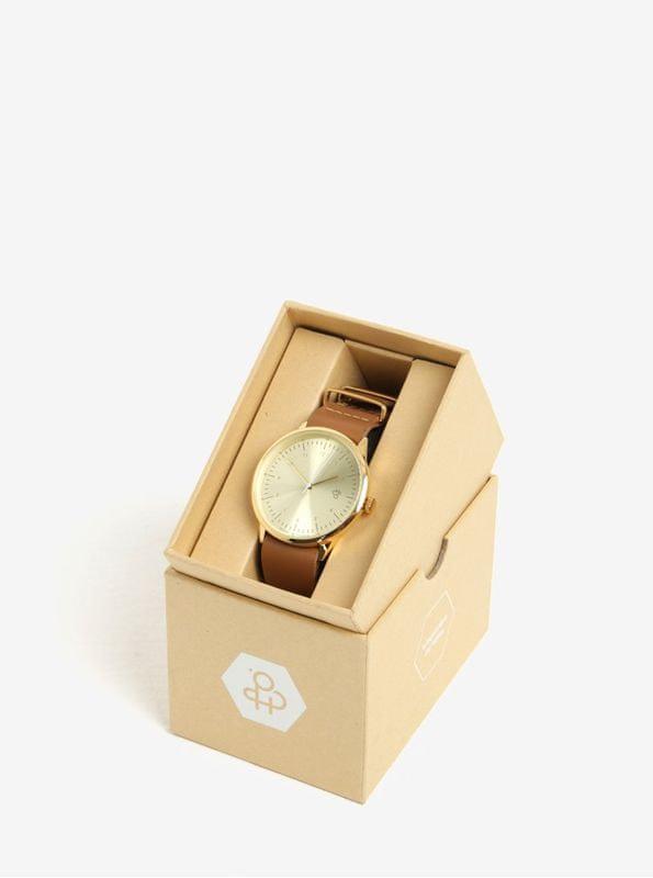 ... 5 - CHPO dámské hodinky s hnědým koženým páskem Harold ... e937331297