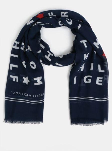 Tommy Hilfiger tmavě modrý vzorovaný šátek 03c0563034