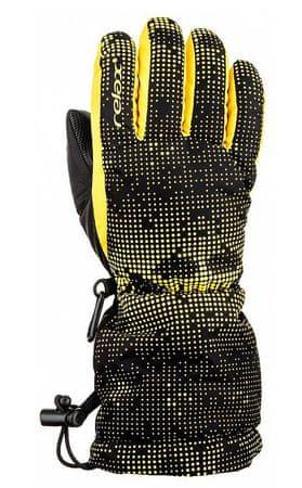 Relax dětské vzorované lyžařské rukavice 10 čierna/žltá