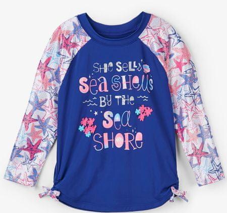 Hatley majica za kupanje za djevojčice UV 50+, plava, 92