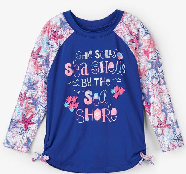 Hatley dívčí plavecké tričko UV 50+ 134/140 modrá