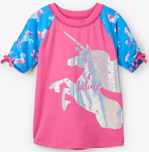 Hatley dívčí plavecké tričko UV 50+ 104 růžová