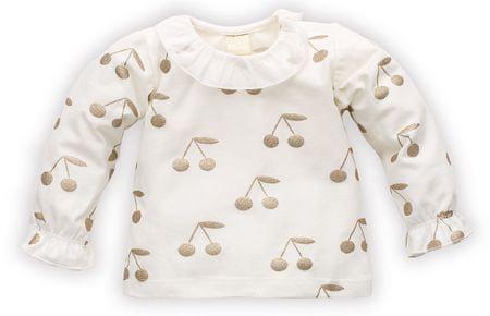 PINOKIO dekliška majica s češnjami, 68, bež