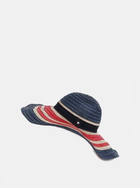 Tommy Hilfiger červeno-modrý dámský pruhovaný klobouk