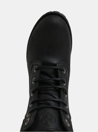 8cee986b936 OJJU černé kožené kotníkové boty 36