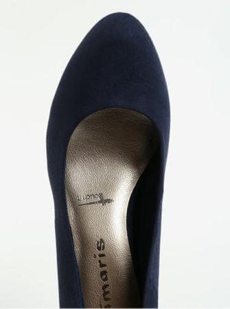 Tamaris tmavě modré lodičky v semišové úpravě na nízkém podpatku 39 ... 49d3e7c600