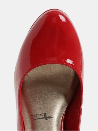 Tamaris červené lesklé lodičky na vysokém podpatku 40 - Parametry ... 21f84bf400