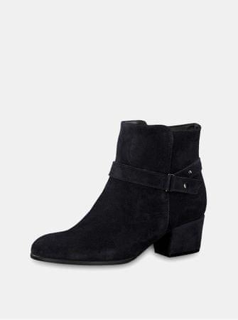 Tamaris tmavě modré semišové kotníkové boty na podpatku 40  15cf2aba3c