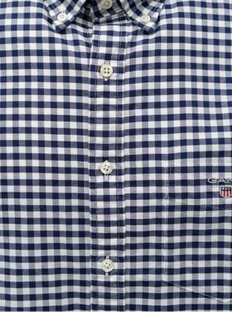 Gant bílo-modrá pánská kostkovaná regular fit košile s výšivkou M ... 4055ede54d