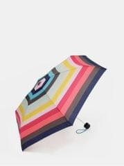 Esprit růžovo-zelený pruhovaný skládací deštník Candystripe