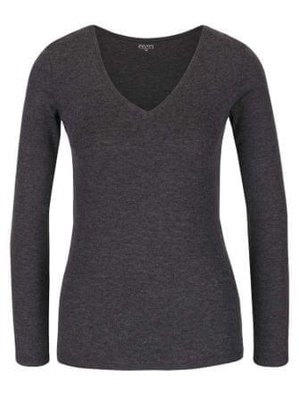 TALLY WEiJL tmavě šedé basic tričko s dlouhým rukávem L