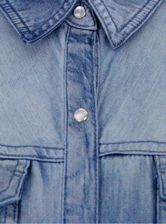 31ed0de9e7d VILA modrá džínová košile s dlouhým rukávem Bista XL