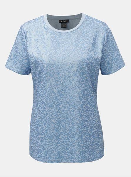 f0c61235fa3 DKNY modré tričko s flitry Sequin L