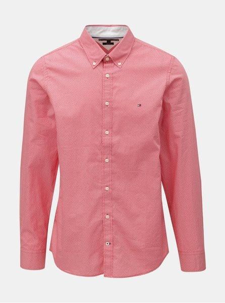 Tommy Hilfiger červená pánská slim fit košile Diamond S 745177defd