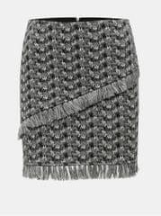 Noisy May šedá vzorovaná sukně s třásněmi Kara 55953e5b9b2