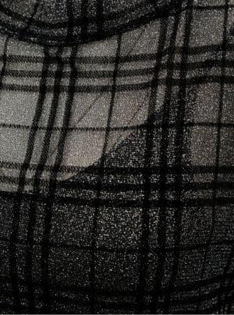 b8fbc6b1769 Noisy May černé kostkované šaty s dlouhým rukávem Kaya M