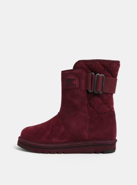 Sorel vínové dámské semišové zimní boty Newbie 39 2d11c88f8e