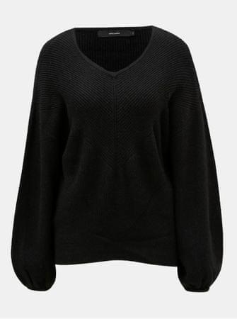 50a0c02a08d Vero Moda černý pletený svetr s balónovými rukávy Diva L